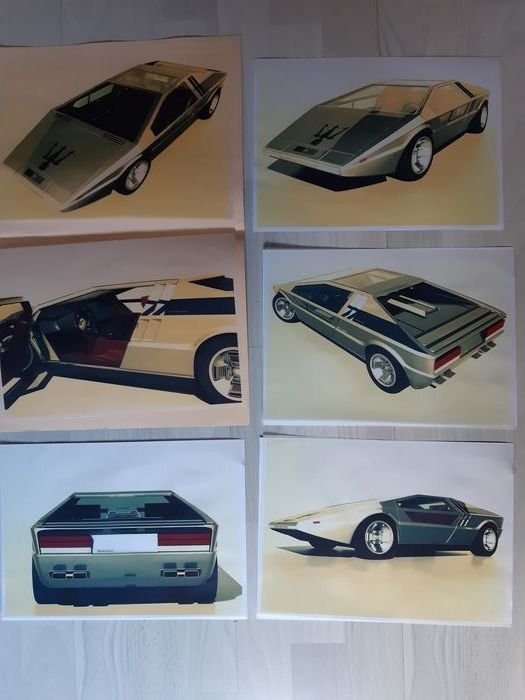 Picture - Maserati - prototype boards drawings - 1971