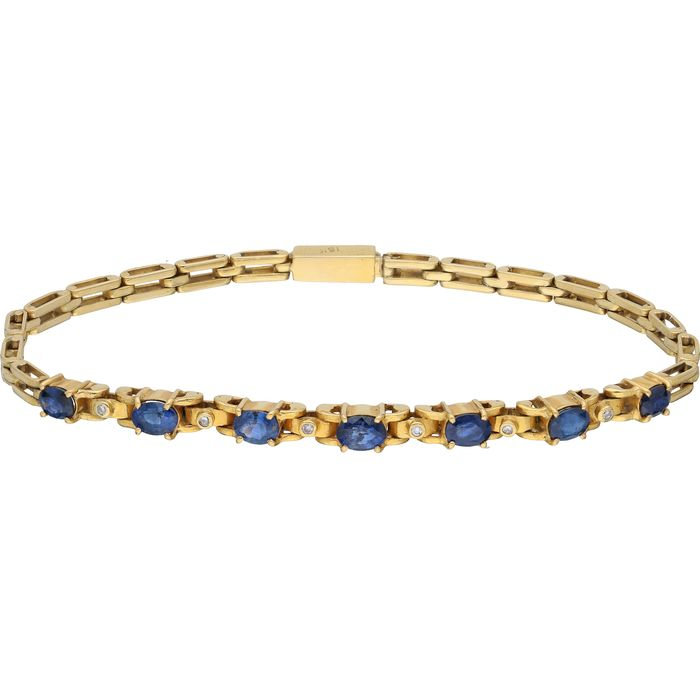 18 kt. Gold - Bracelet Tanzanite - Diamond