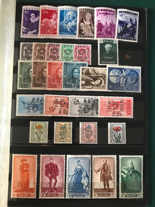 Belgium 1949 - Year complete in main number without A numbers - OBP / COB 792/810 en 811/822