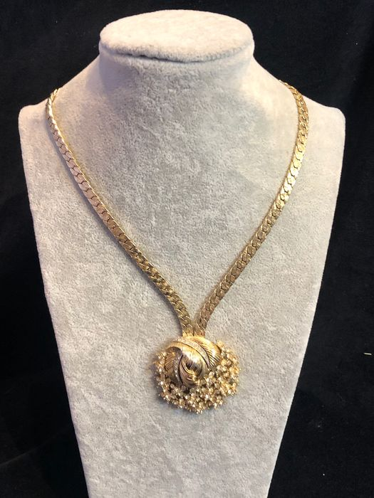 Gold-plated - D'ORLAN large pendant necklace
