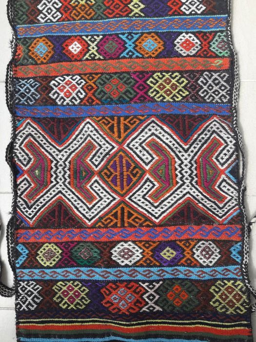 Yuruk - Hand Made Turkish Nomadic Grain Sack, Chuval - 117 cm - 66 cm
