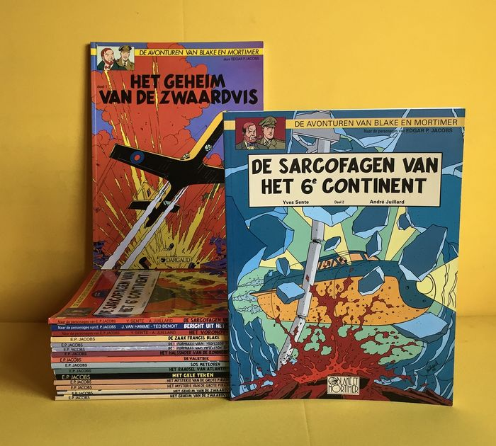 Blake & Mortimer 1 t/m 17 - groot formaat softcovers - Blake & Mortimer uitgaven - Éditions diverses - (1995/2004)