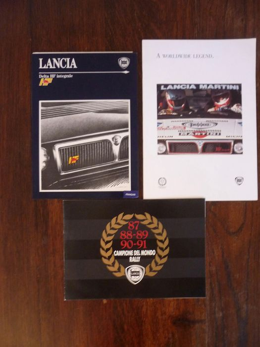 Brochures / catalogues - Lancia - Lancia Delta HF integrale - 3 original brochures - 1991-1992