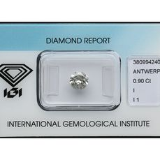 1 pcs Diamond - 0.90 ct - Brilliant - I - I1 ***No Reserve***
