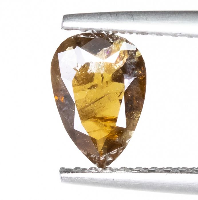 Diamond - 0.83 ct - Natural Fancy Yellowish Brown - I2  *NO RESERVE*