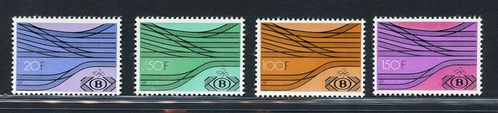 Bélgica 1930/1960 - Several sets of the period with railway parcels