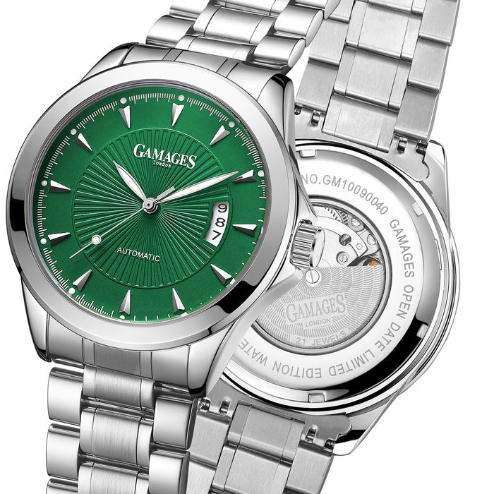 Gamages of London Watches - Limited Edition Hand Assembled Open Date Automatic Emerald Green - GA0017 - Hombre - 2011 - actualidad