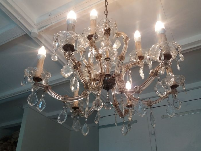 Chandelier Maria Theresia model - 9 arms - mid 20th century