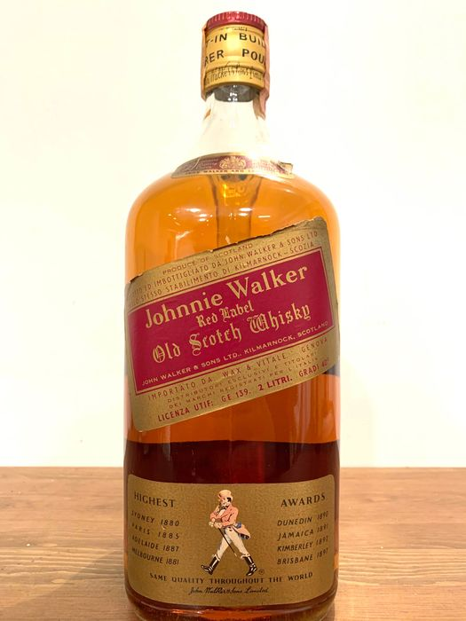 Johnnie Walker Red Label Old Scotch Whisky - b. 1970s - 2 Litres
