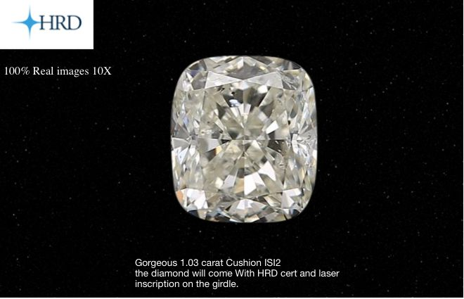 1 pcs Diamond - 1.03 ct - Cushion - I - SI2