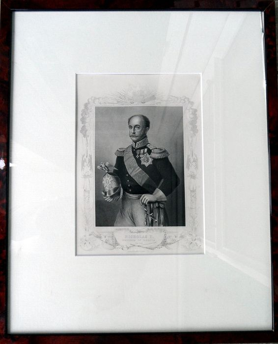 Nicholas I (1796 - 1855) - engraving in frame - issued 1860