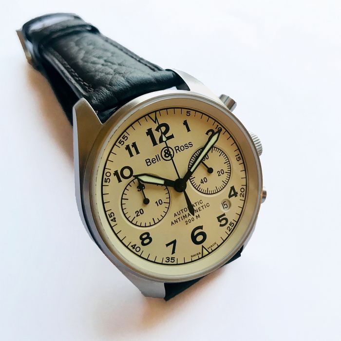 Bell & Ross - Pilots Chronograph Vintage BR126-A - Homme - 2000-2010