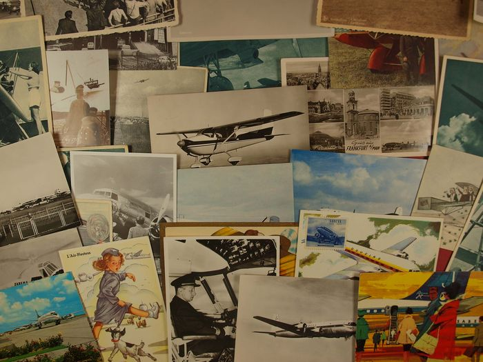 The whole world - Aircrafts - Postcards (Set of 74) - 1920
