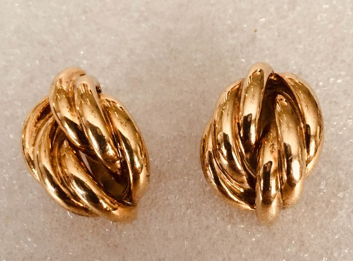 silver gold plated - Earrings