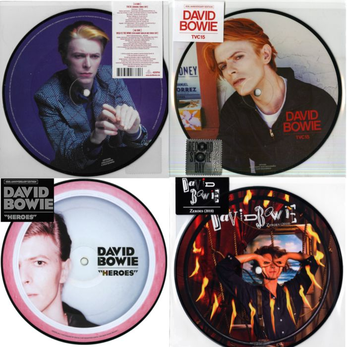 David Bowie - 3 Bowie singles (Picture Disc's) || Mint & Sealed - Multiple titles - 45 rpm Single - 2016/2018