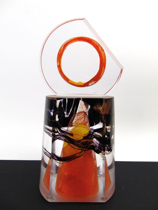 Maxence Parot  - Massive single sculpture Polis Movements 1.2kg - Glass