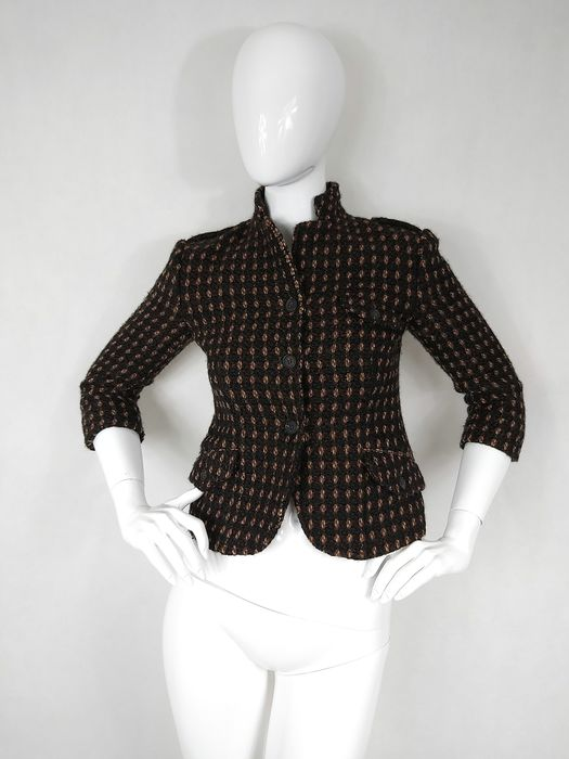Miu Miu - Virgin Wool Short Jacket - Size: EU 34 (IT 38 - ES/FR 34 - DE/NL 32), EU 36 (IT 40 - ES/FR 36 - DE/NL 34)