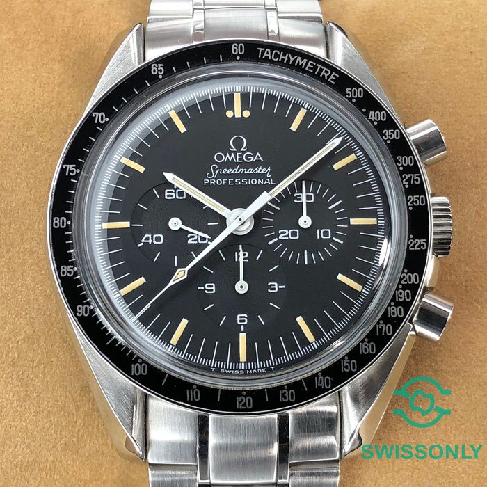 Omega - Speedmaster Moonwatch, Tritium c.861, Rare Long S&R - 145.022 - Men - 1990-1999