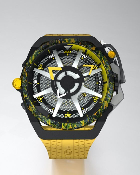 "Mazzucato - RIM Reversible Monza Carbon Fiber Yellow Automatic and  Chronograph  - LIMITED EDITION ""NO RESERVE PRICE"" - Hombre - brand new"