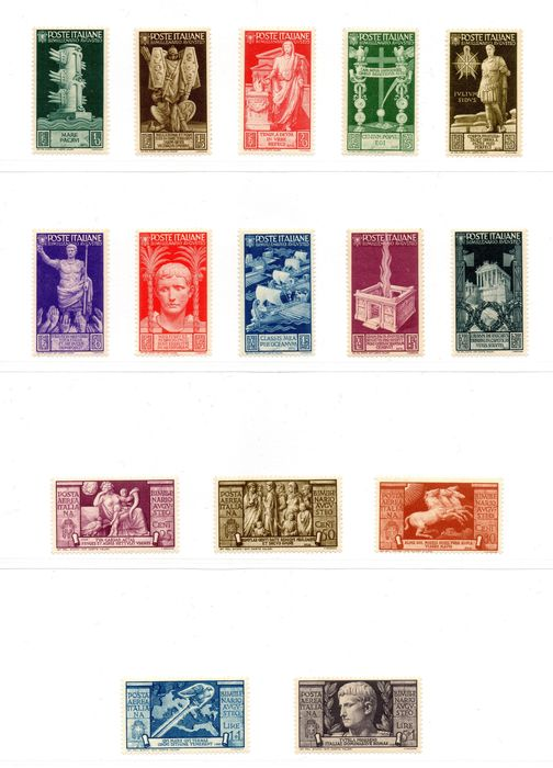 Italien Königreich 1937 - Augustus - complete set, regular and air mail - Sassone NN. 416/425 + A106-A110