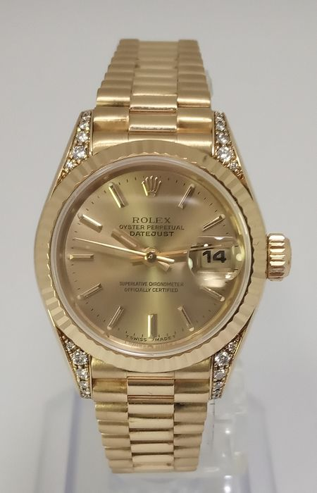 Rolex - Oyster Perpetual Datejust Diamonds - 69238 - Mujer - 1990-1999