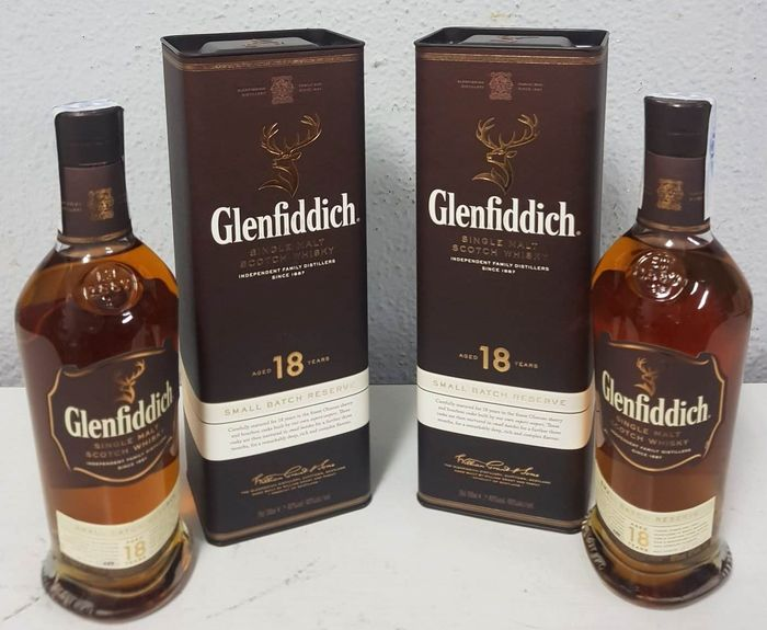 Glenfiddich 18 years old Small Batch Reserve - Original bottling - 70cl - 2 bouteilles
