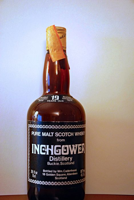 Inchgower 1959 19 years old - Cadenhead's - b. 1978 - 75 cl