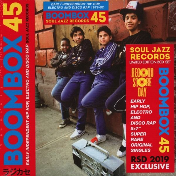 Various Artists/Bands in Soul - Boombox 45 (Early Independent Hip Hop, Electro And Disco Rap 1979-82) || Mint & Sealed || RSD - 45 rpm Single, Box set - 2019/2019