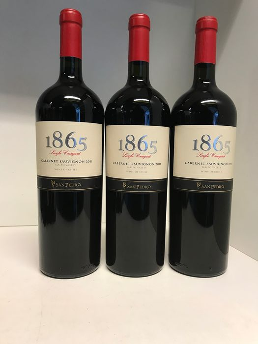 2011 Vina San Pedro 1865 Single Vineyard Cabernet Sauvignon  - Maipo Valley - 3 Magnums (1.5L)