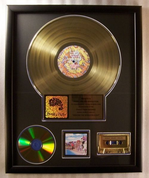 """Prince And The Revolution - """"Around The World In A Day"""" LP, Cassette, CD Gold Record Award Presented To Prince & The Revolution - Offizieller hauseigener Award - 1985/1985"""