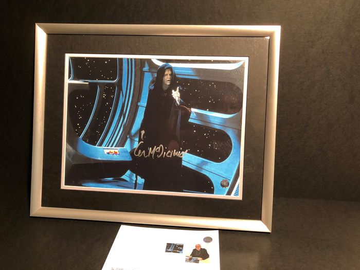 Star Wars - Ian McDiarmid, who played The Emperor Palpatine - Autographe, Photographie