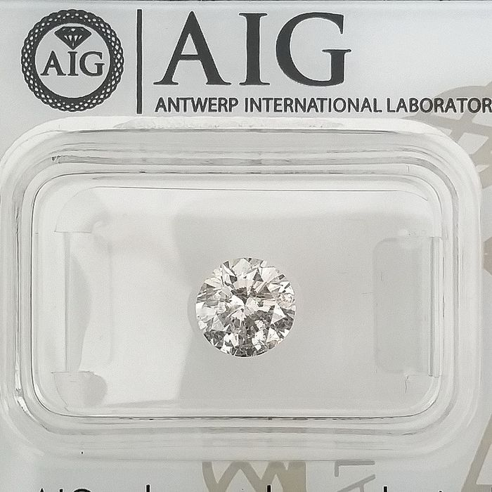 Diamond - 1.04 ct - Round - D (colourless) - SI2, ***No Reserve Price***