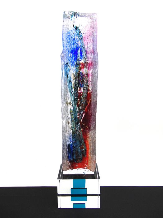 Maxence Parot  - Massive single sculpture Twists and Gold 36cm - Glass