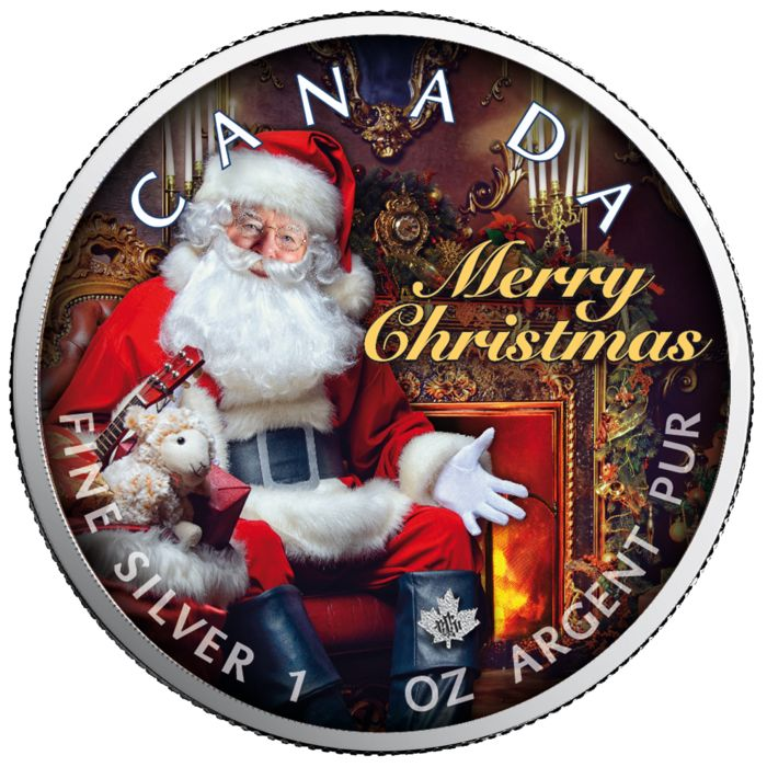 Canada - 5 Dollars 2019 - Maple Leaf - Santa Claus - 1 oz - Silver