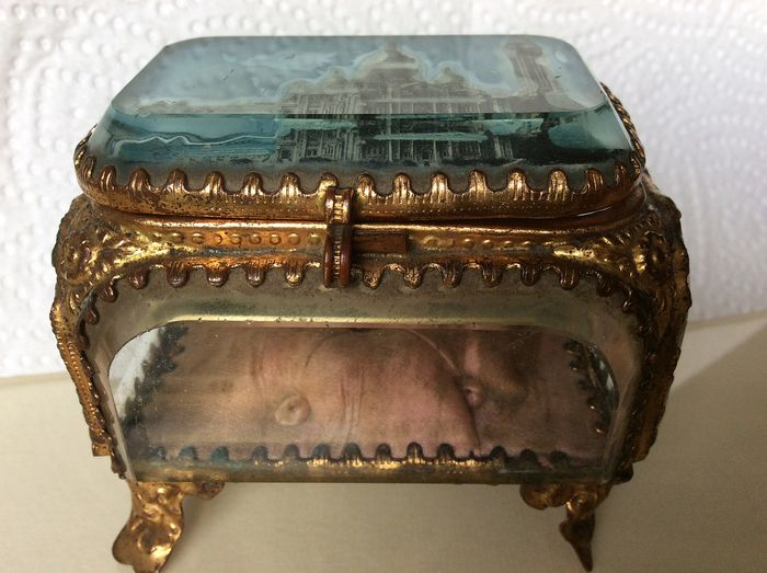 Antique 19th century Jewelery box france (1) - Glass