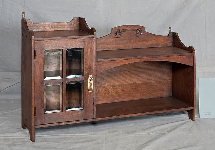 Dutch oak cigar cabinet, 1920s - Wood- Oak