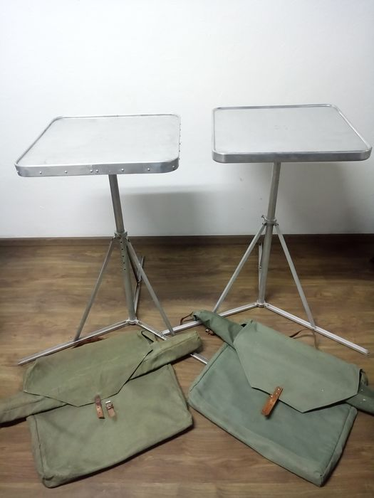 Aluminum Folding Military Tables with Original Covers (2)