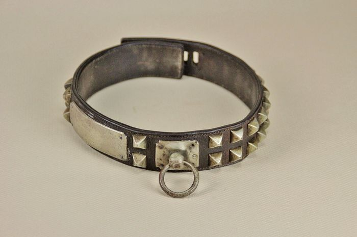 Antique dog collar - Leather - Early 20th century