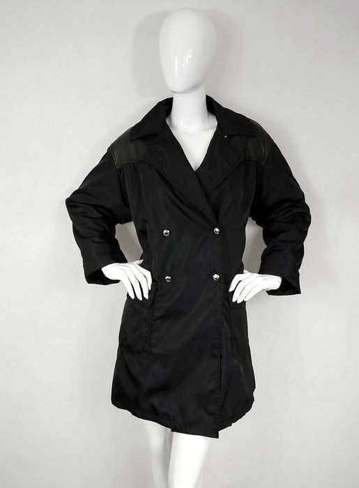 Prada - Padded Oversize Coat With Real Leather Inserts - Size: M/L