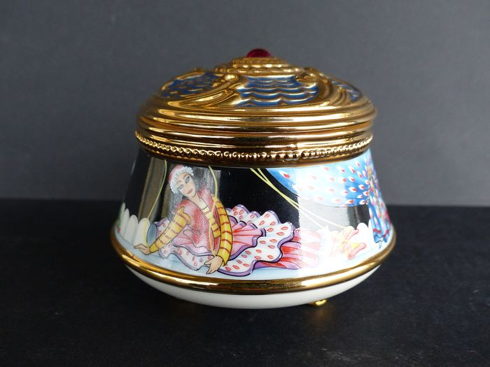 House of Fabergé - Collector Music Box (1) - Porselein - 22k vergulde afwerking