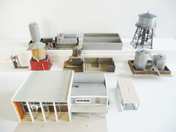 Faller, Kibri, Pola H0 - Attachments - Industry-related buildings