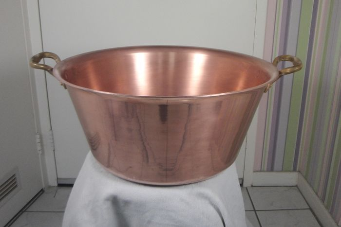 Copper COOK - Large Thick-walled Professional Copper Pan / Jampan - Copper
