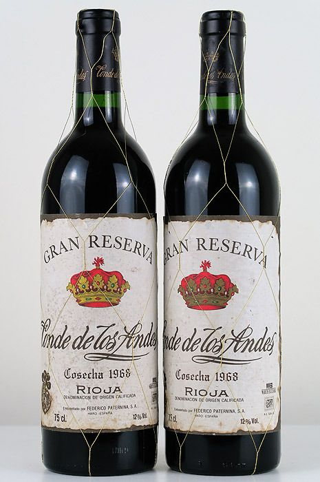 1968 Conde de los Andes Centenary Edition (bottled in 1996) - Rioja Gran Reserva - 2 Bottles (0.75L)