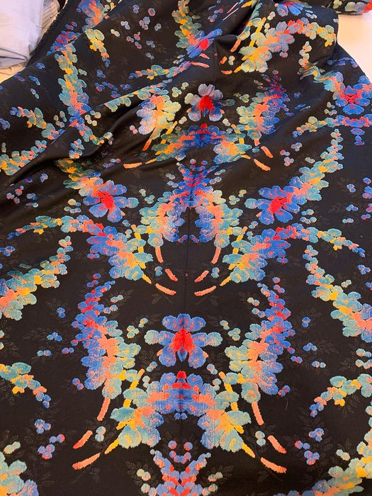 4.20 x 1.50 Meters - TOP quality floral fabric - Cotton, Velvet - Late 20th century