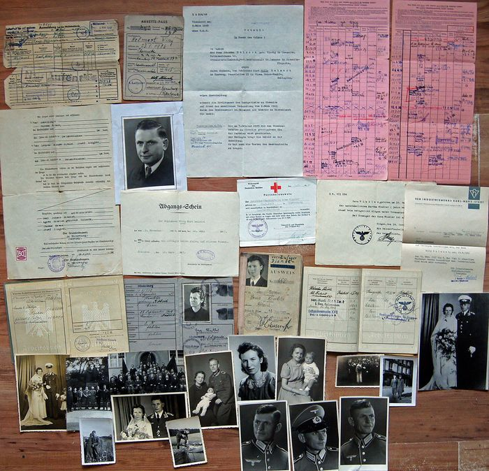 Germany - Including 5 passes - Document, 30 x Personal Documents of the Helwert family