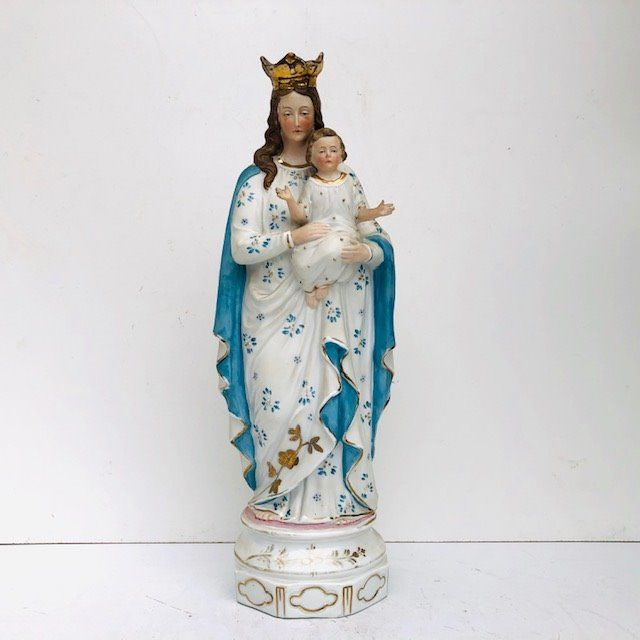 Holy Mary with child Jesus - Porcelain