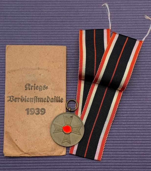 Germany - War Merit Medal in a bag with a long strap section