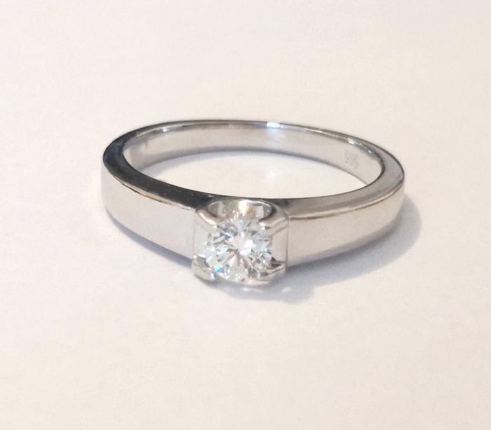 14 kt. White gold - Ring - 0.25 ct Diamond