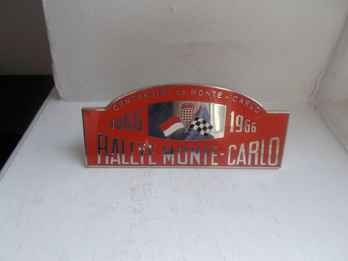 Plakette - Vintage  Rallye Monte- Carlo Centenaire   enamel on brass with fixings   stunning  original   - 1970-1980