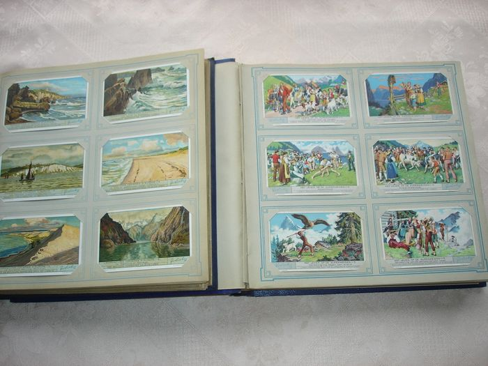 Liebig 100 Belgian series - 600 cards - chromo albums (Collection of 2) - 1930-1950